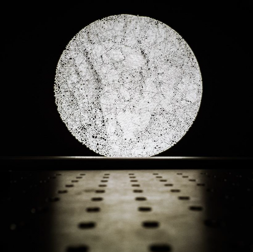 The Rising Fiber Moon, the winning photo in the Danish National Research Foundation's photo competition 2018.