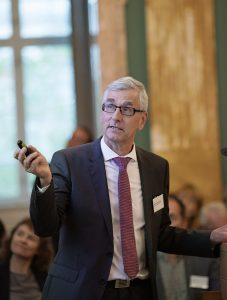Professor Søren-Peter Olesen, CEO of the DNRF. The DNRF Annual Meeting 2018, at The Royal Danish Academy for Sciences and Letters,