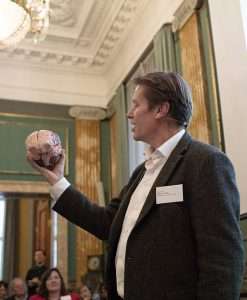 Professor Peter Vuust, Head of the DNRF center Music In the Brain (MIB), the DNRF Annual Meeting 2018, at the Royal Danish Academy for Sciences and Letters,