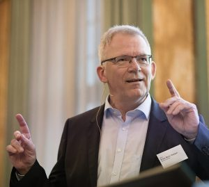 Rector of Aarhus University, Brian Bech Nielsen, the DNRF Annual Meeting 2018 at the Royal Danish Academy for Sciences and Letters.