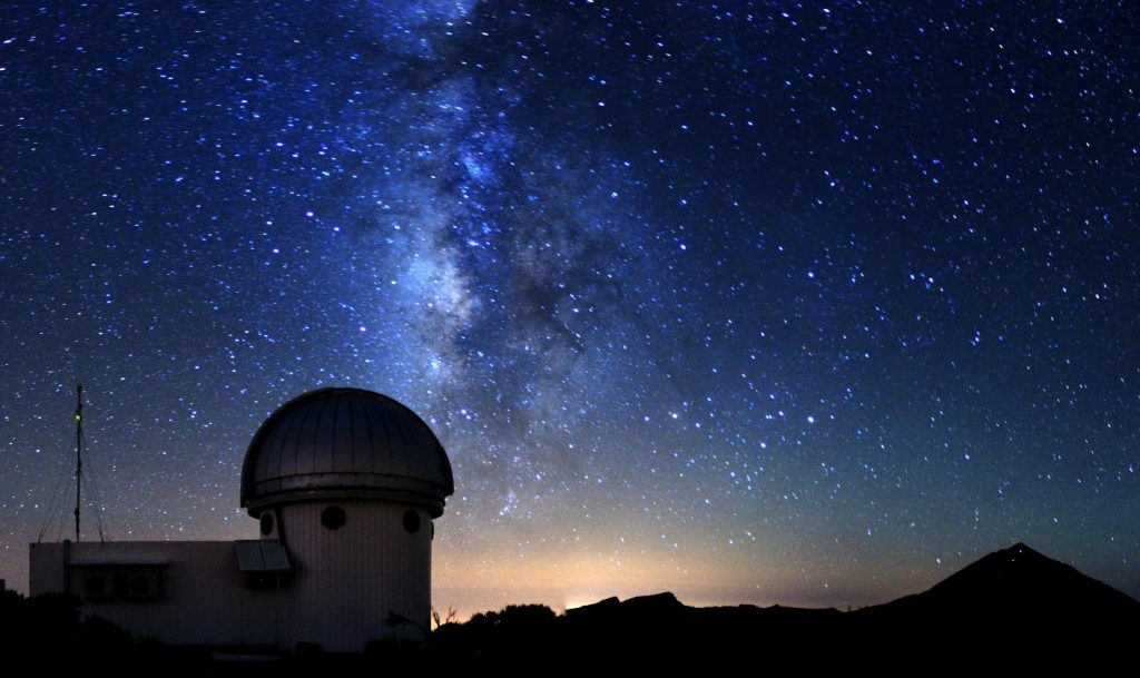 (The SONG telescope, which is part of the Teide Observatory on the slopes of the volcano Teide, Tenerife. Photo: Mads Fredslund Andersen)