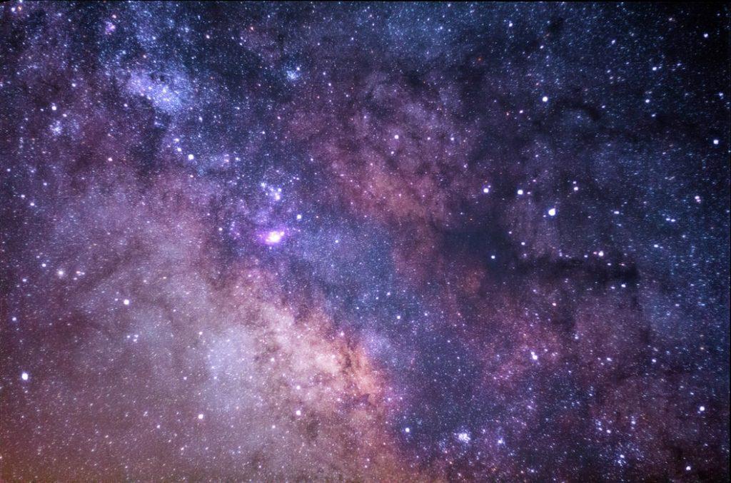 A starry night sky.